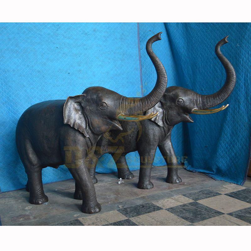Classic Design Life Size Bronze Elephant Statue For Garden