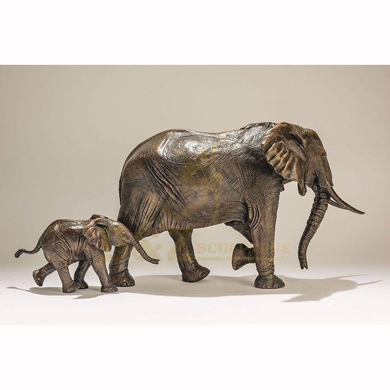 Bronze Garden Statue Custom Large Metal Bronze Elephant Sculpture