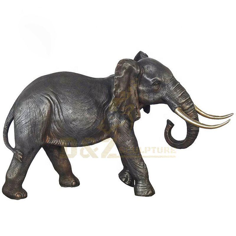 Outdoor Garden Hand Made Bronze Elephant Statue