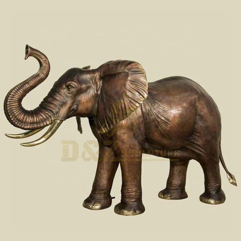 Popular Custom Life Size Bronze Elephant Sculpture