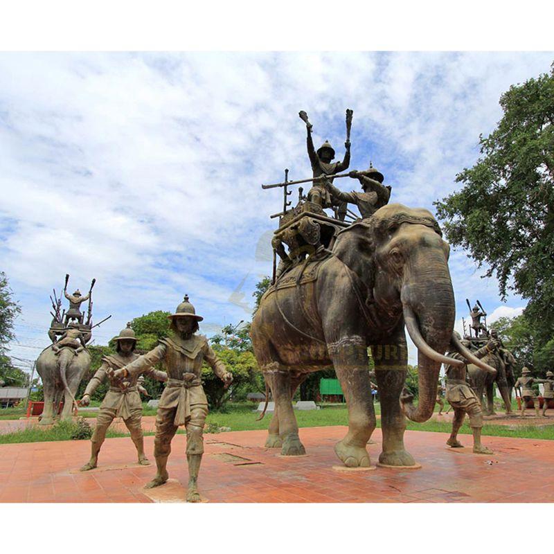Handmade Brass Elephant Bronze Animal Sculpture