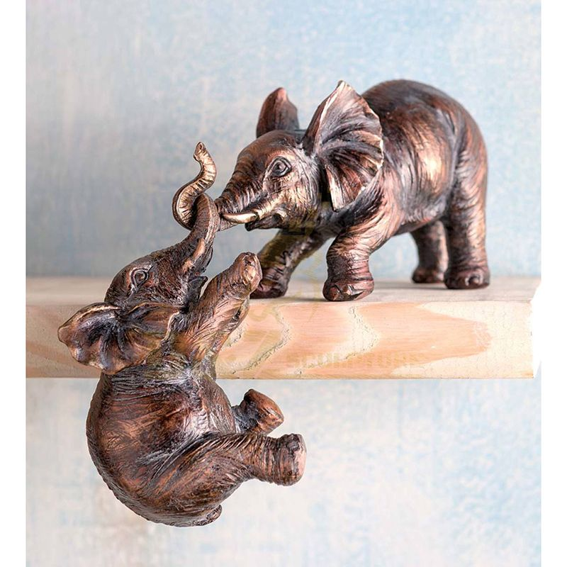 Decorative Life Size Bronze Elephant Metal Sculpture For Sale