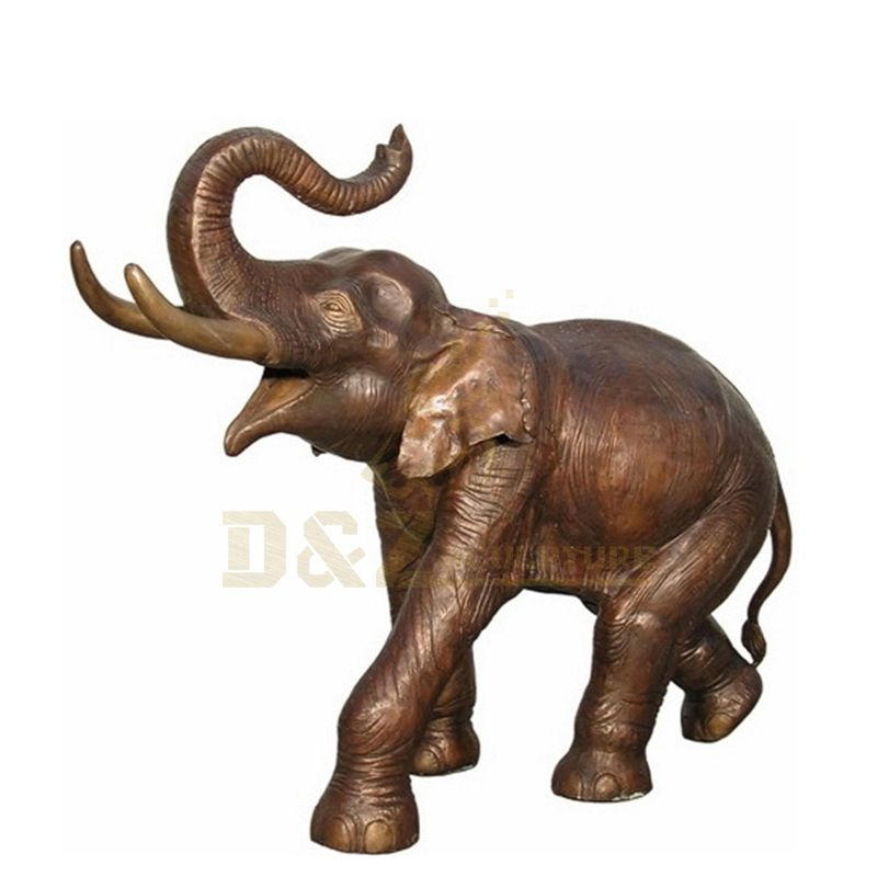 Outdoor Decoration Elephant Sculpture Bronze Animal Sculpture
