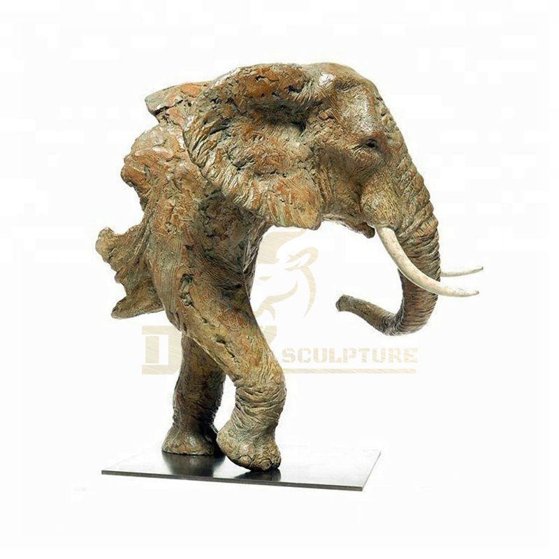Antique Style Bronze animal Elephant Head Statue for Garden