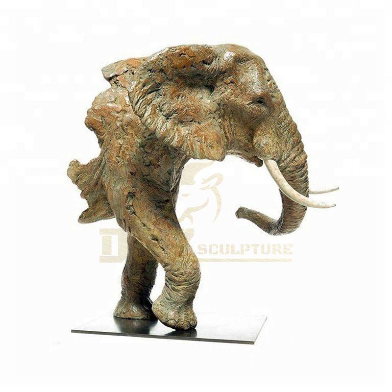 Antique Style Bronze animal Elephant Head Statue for Garden