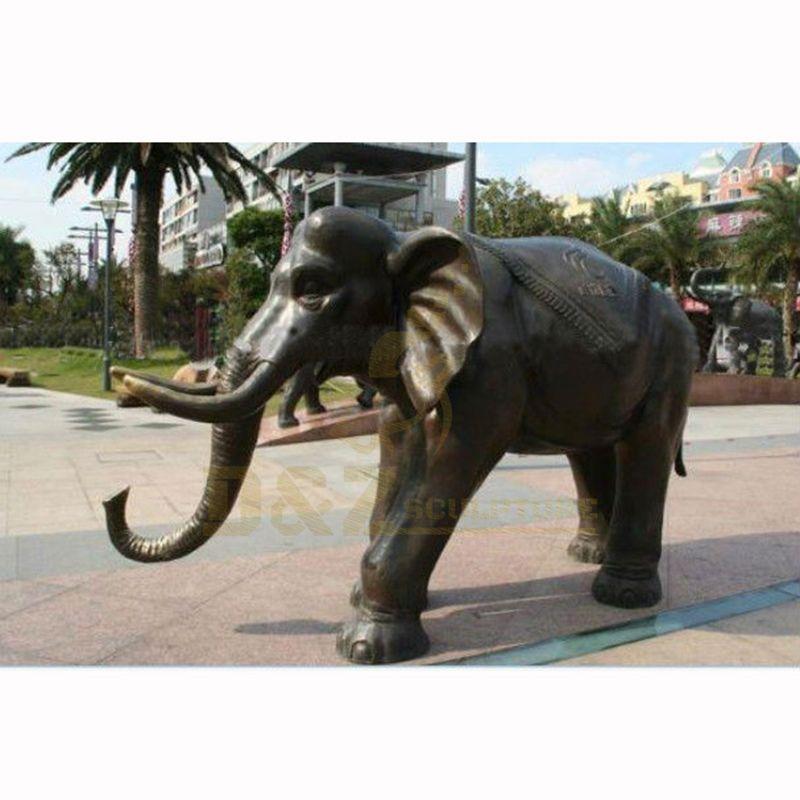 Life Size Outdoor Metal Elephant Bronze Statue Garden Sculpture