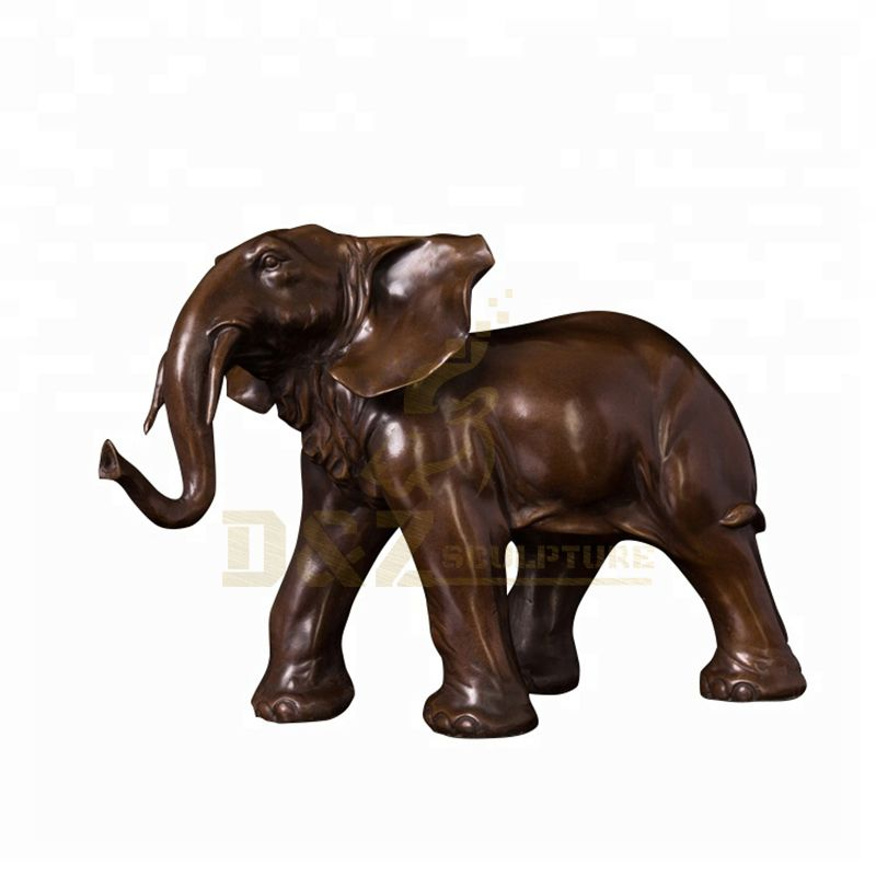 Outdoor antique life size bronze elephant sculpture