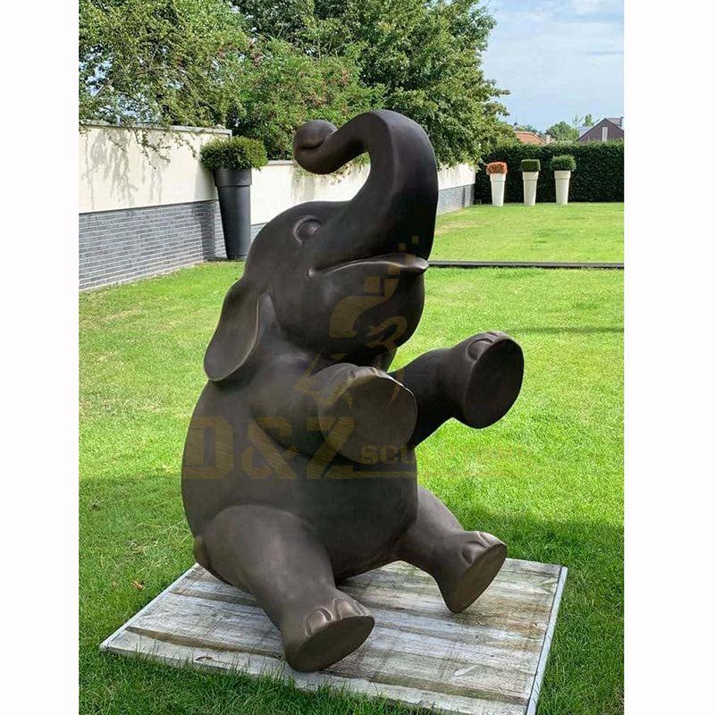 Life Size Metal Casting Modern Bronze Elephant Sculpture