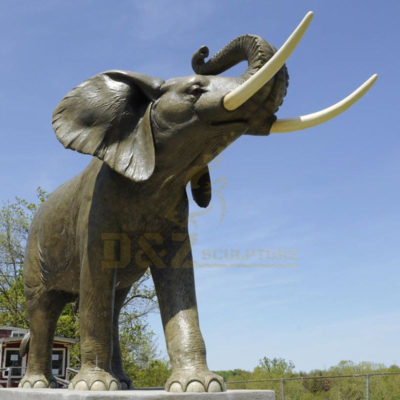 Life Size Bronze Elephant Sculpture For Sale