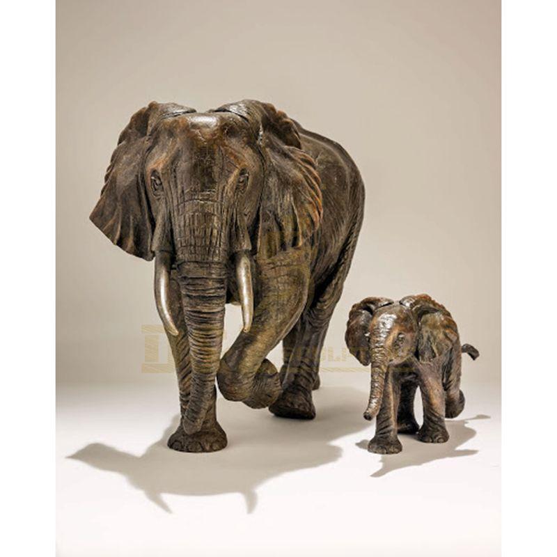 Garden Decoration Antique Life Size Bronze Elephant Sculpture