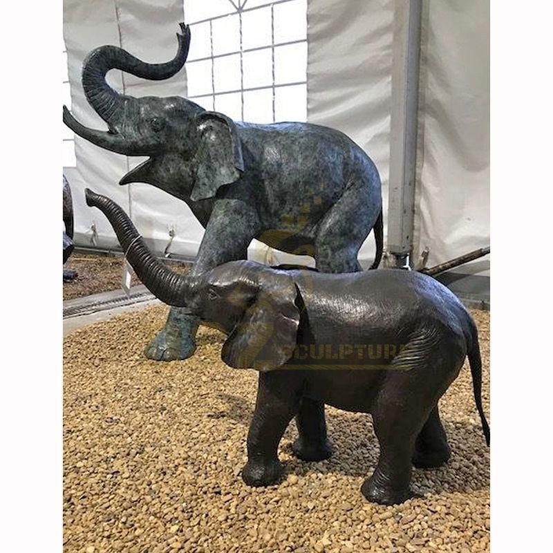 Large Outdoor Animal Statue Antique Bronze Elephant Sculpture