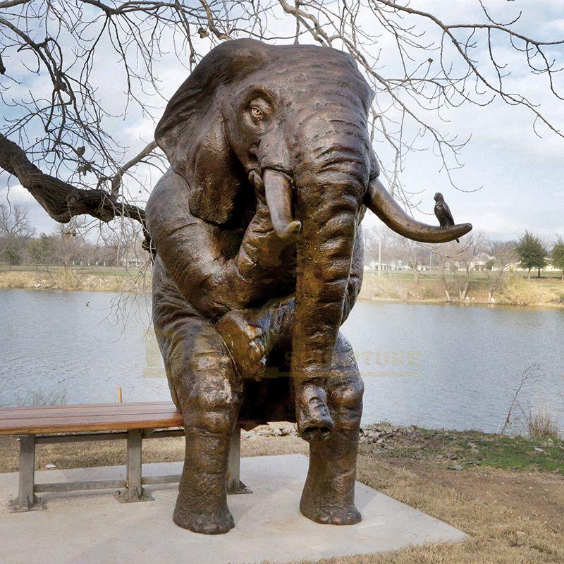 Life Size Antique Elephant Bronze Sculpture