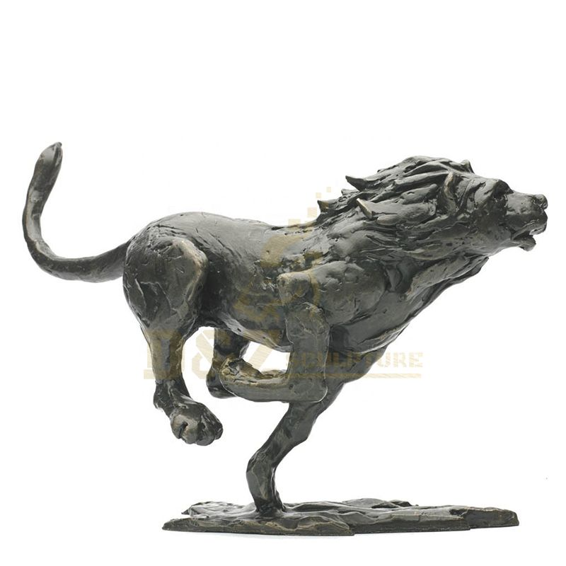 Handmade Bronze Lion Sculpture Animal Statue