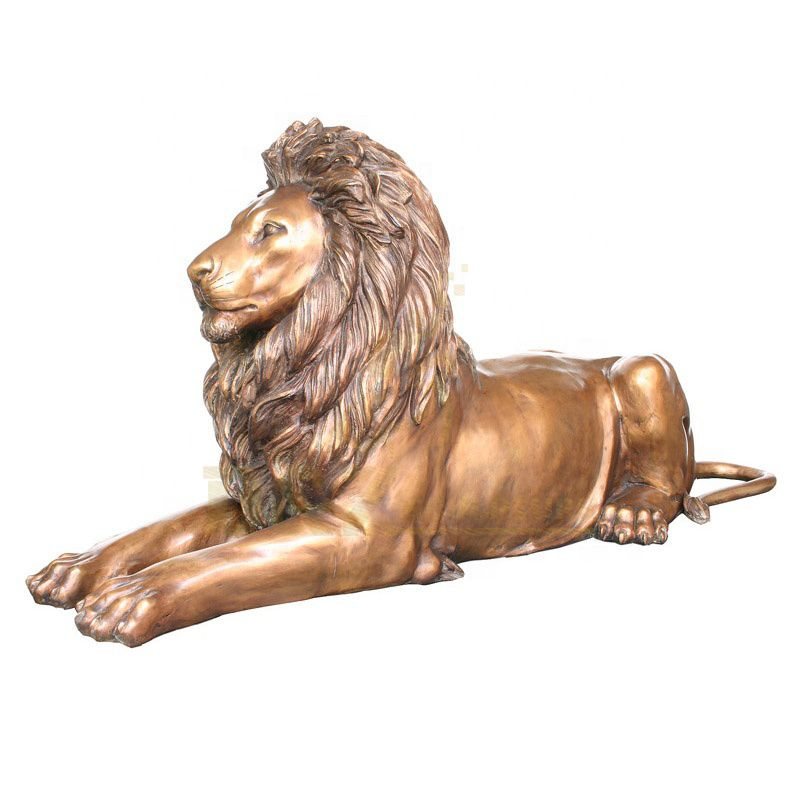 Life Size Bronze Lion Sculpture Decorative Garden
