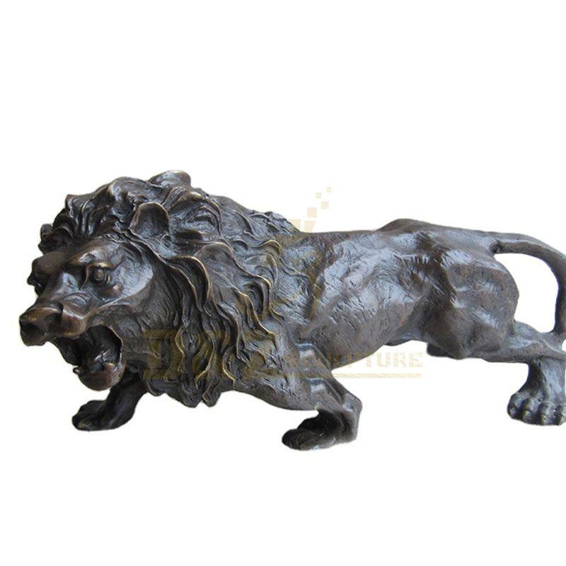 Garden Sculpture Life Size Brass Animals Lion Statue