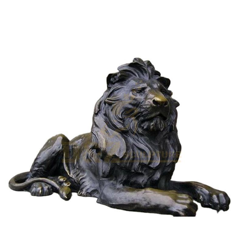 High quality animal sculpture brass large lion statues