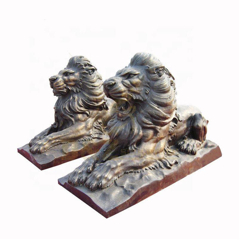 Life Size Garden Decoration Metal Brass Lion Statue