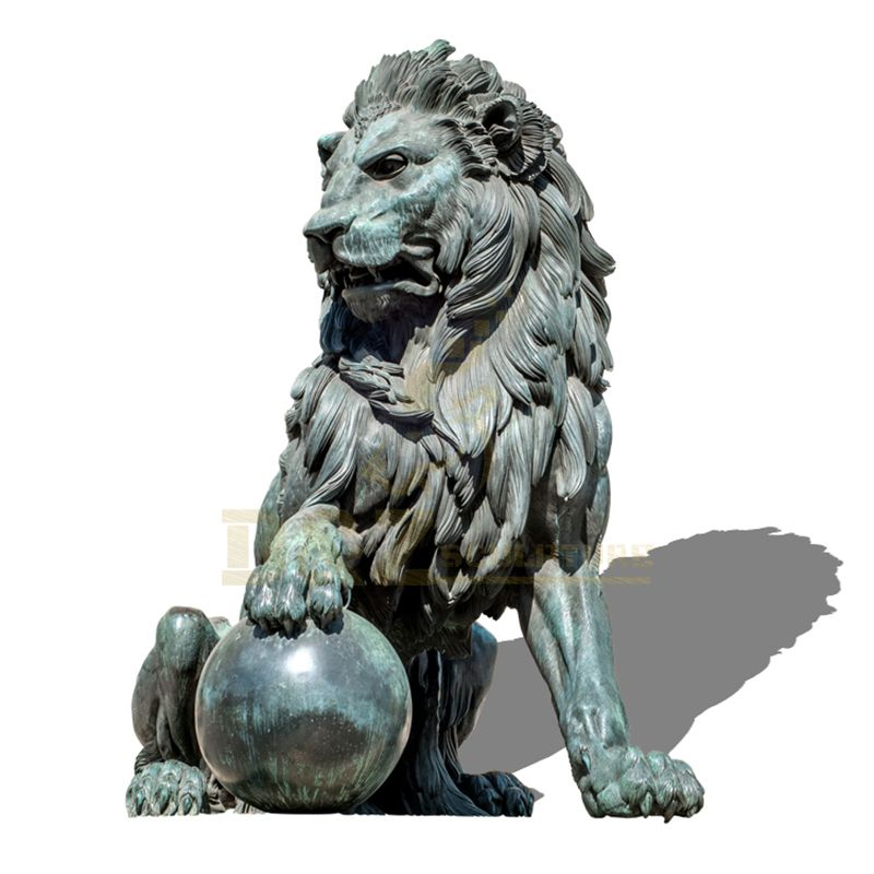 Outdoor Decoration Chinese Bronze Lion Statue Sculpture For Sale