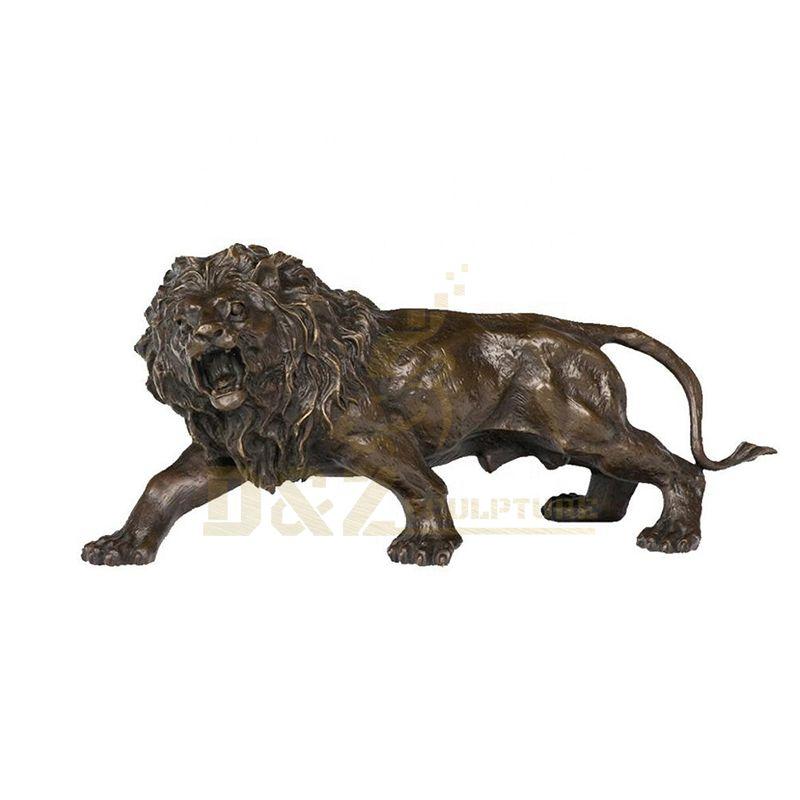 Copper animals Hand Made Luxury Bronze Outdoor Lion Statues Sculpture