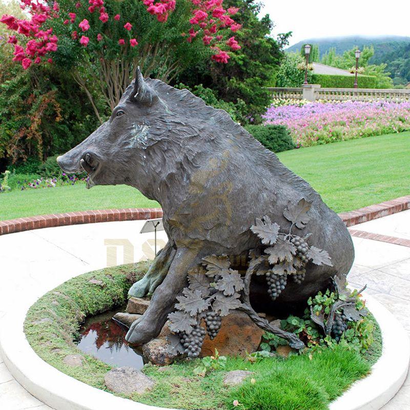 Newest Good Price Bronze Wild Boar Sculpture