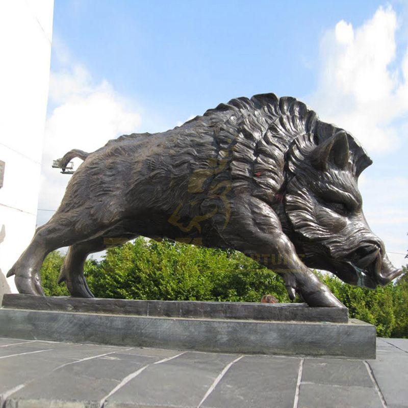 New Design Outdoor Garden Wild Boar Bronze Sculpture