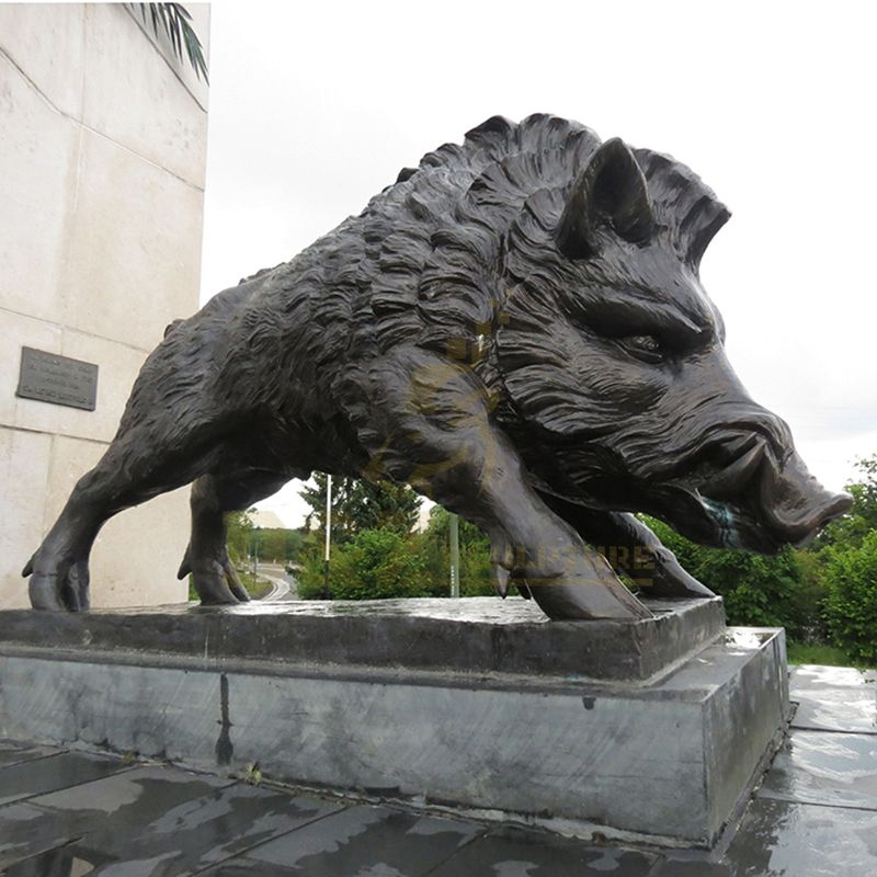 Life Size Garden Decoration Bronze Wild Boar Sculpture