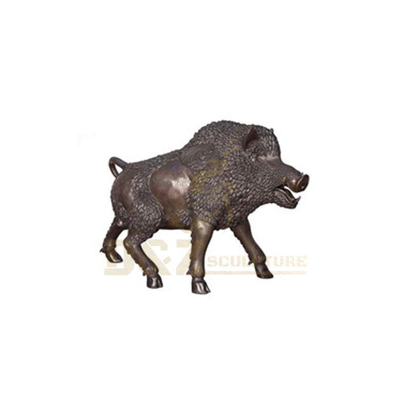 China Factory outdoor animal designs Brass Wild Boar Sculpture
