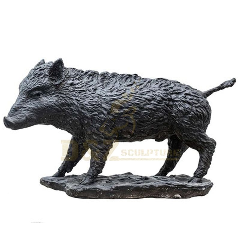 Bronze wild animal garden wild boar Animal Pig sculpture