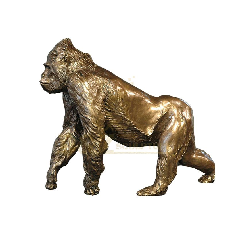 Modern Sculpture Outdoor Wild Bronze Gorilla Statue