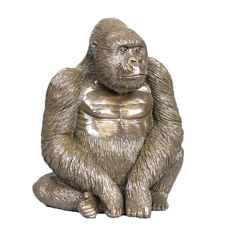Top Quality Sculpture Gorilla Ornaments Brass Craft Animal