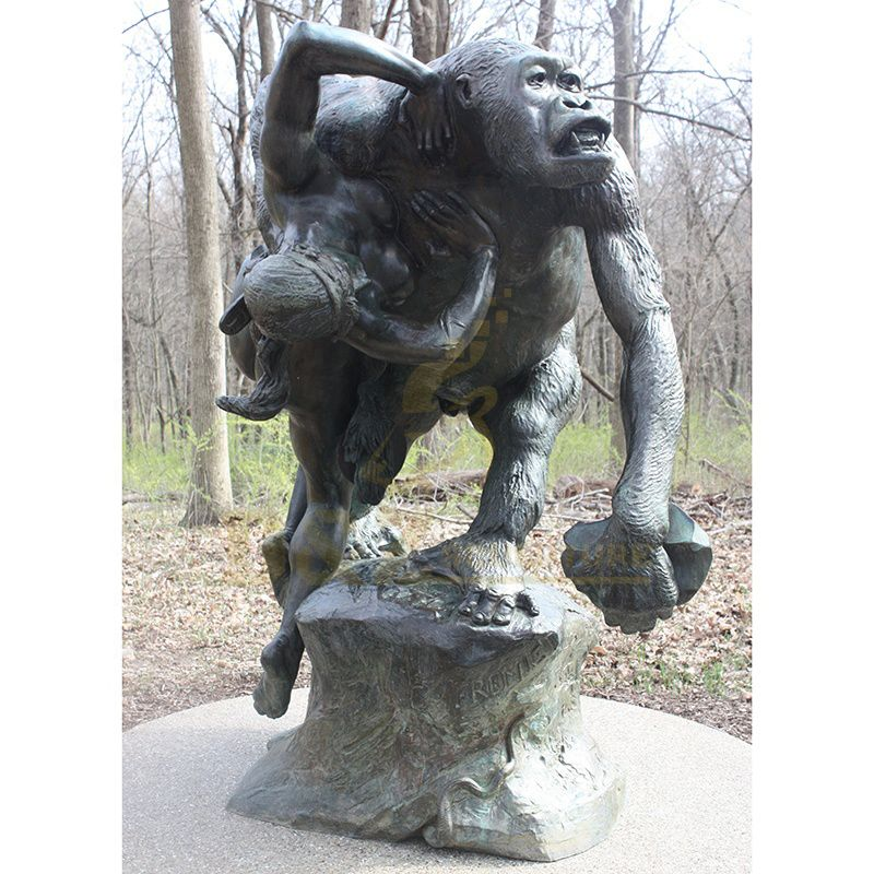 Garden Decoration Bronze Large Life Size Gorilla Statue