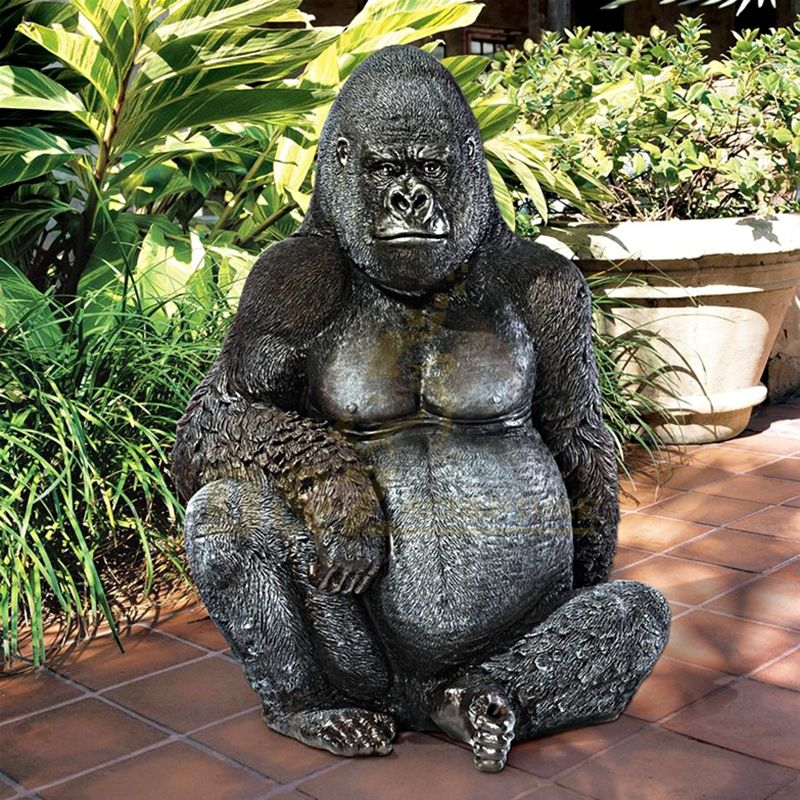Outdoor Decoration Statue Western Style Bronze Gorilla Sculpture