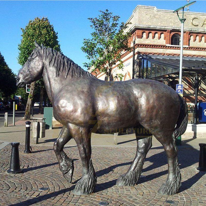 Outdoor Decoration Large Size Brass Horse Sculpture
