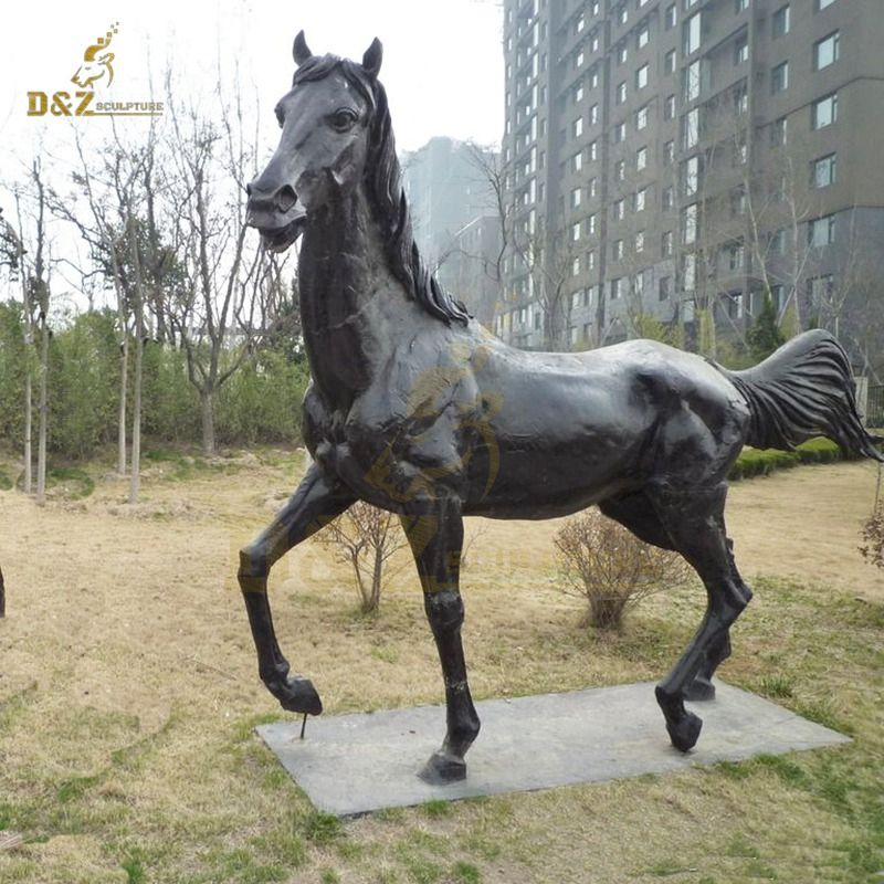Large Horse Sculpture Garden Decoration Brass Animal Statue