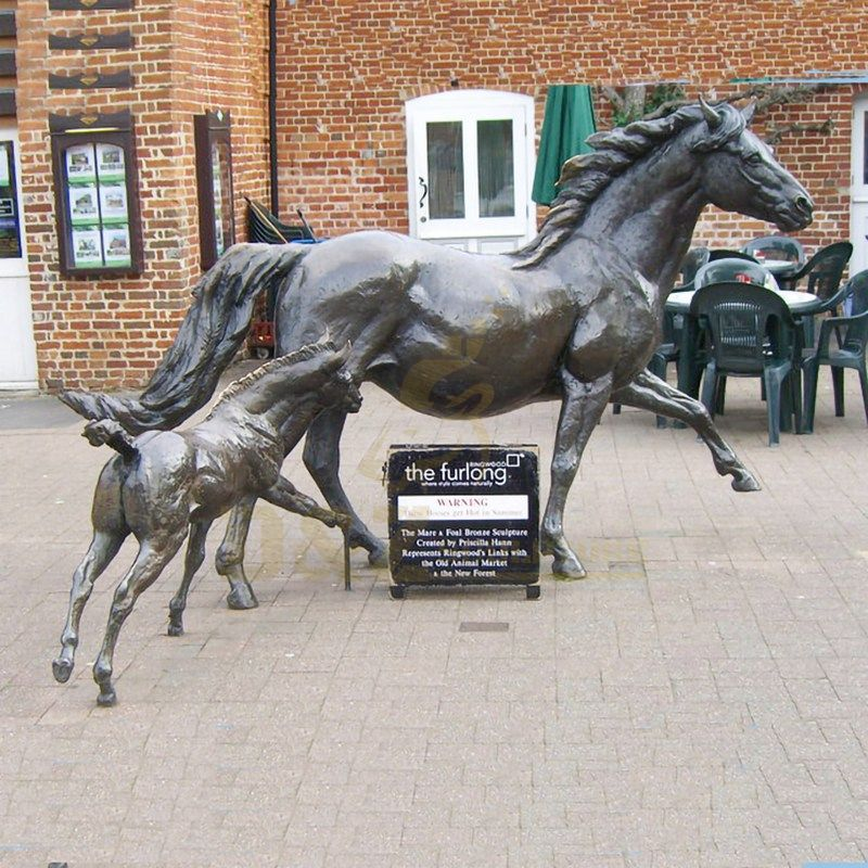 Life Size Outdoor Sculpture Bronze Running Horse Statue