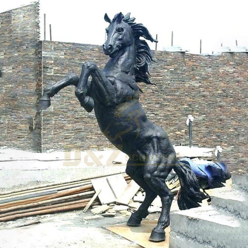 Life Size Bronze Jumping Horse Sculpture for Garden Decoration