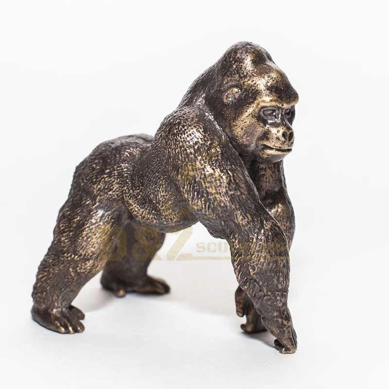 Folk Art Bronze Sculpture Gorilla Statue Sculpture