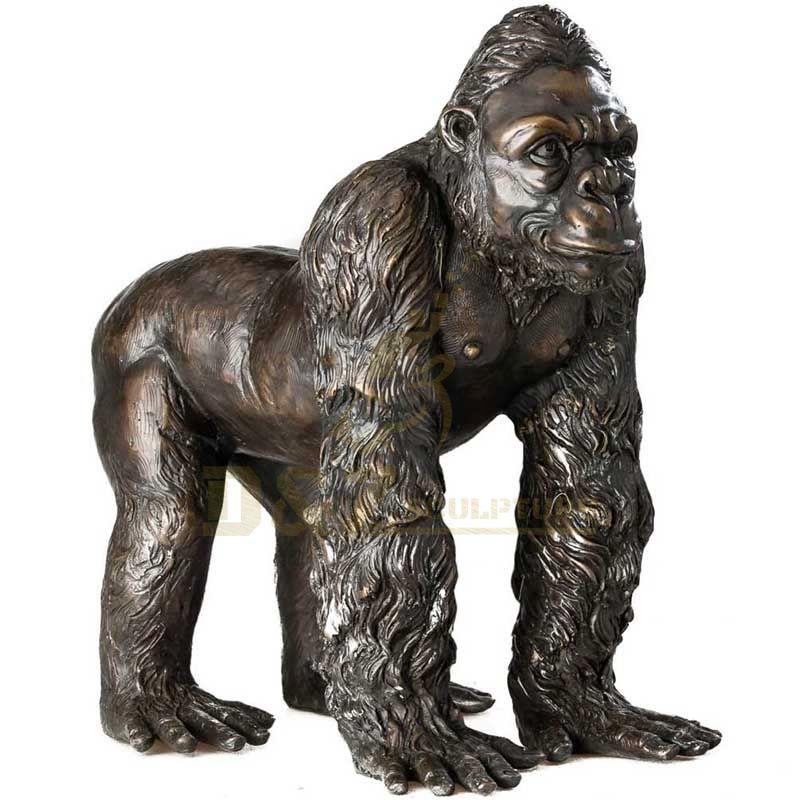 Modern Abstract Statue Bronze Ornaments Home Decoration Gorilla Sculpture