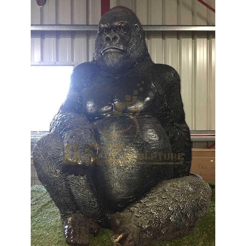Outdoor Garden Brass Bronze Gorilla Sculpture
