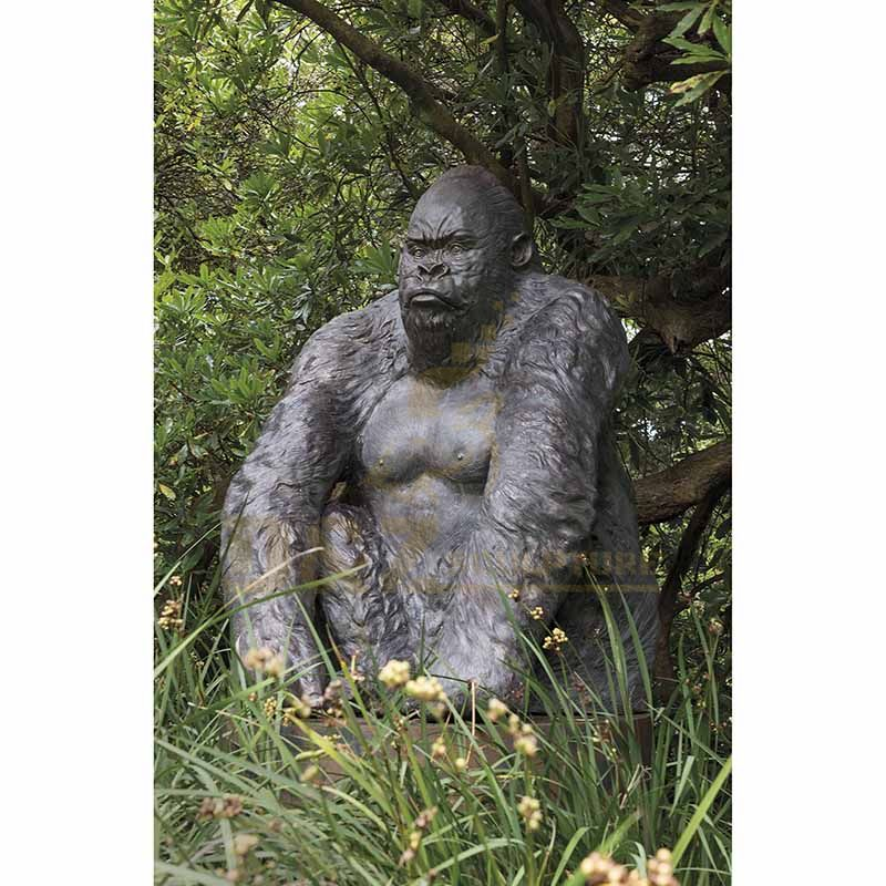 Large Bronze Gorilla Sculpture