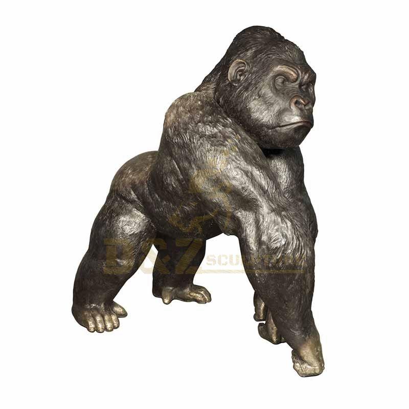 Large Size Animal Bronze Gorilla Sculpture For Decoration