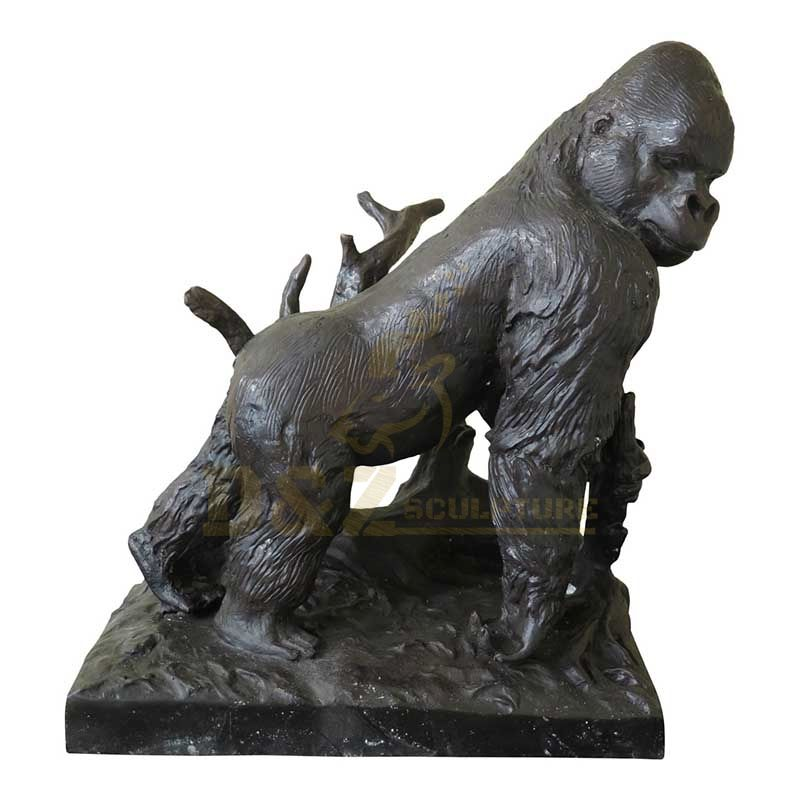 Life Size Whole Sale Bronze Cast Animal Gorilla Statue