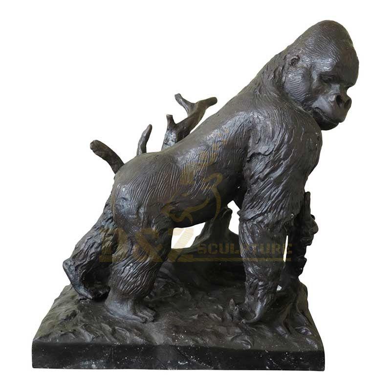 Life Size Whole Sale Bronze Cast Animal Gorilla Statue