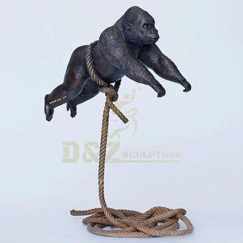 Indoor Decorative Statue King Kong Large Bronze Gorilla Statue