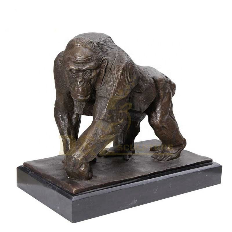 Large Outdoor Life Size Bronze Gorilla Statue