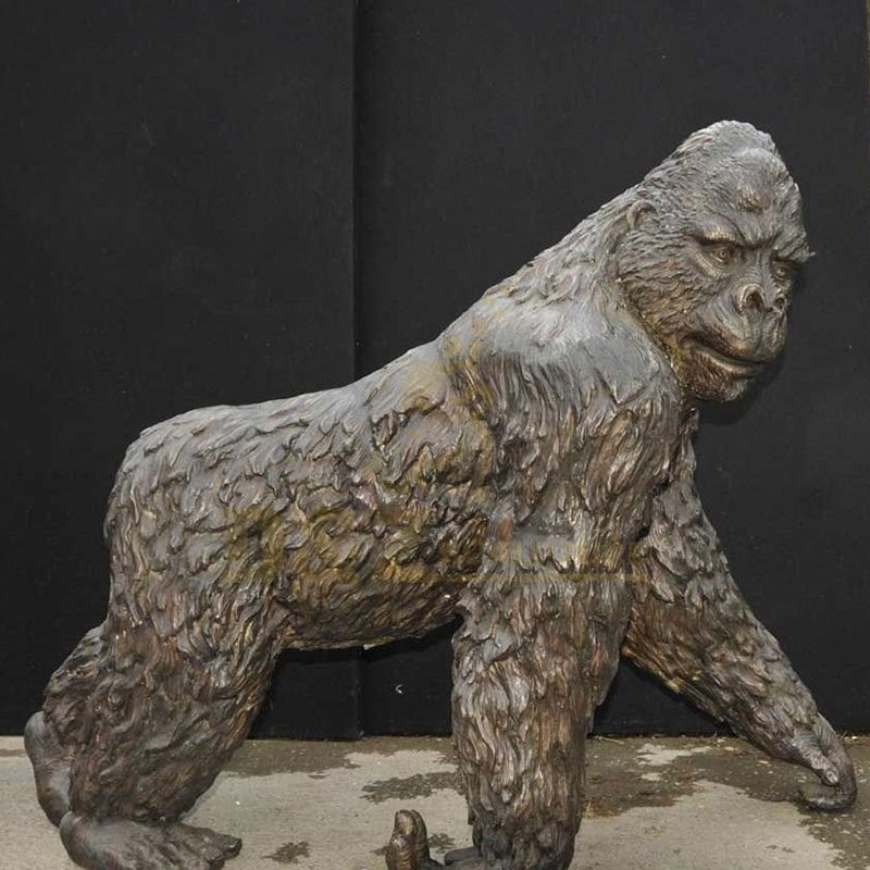Professional Classic Custom Lifelike Bronze Gorilla Statue