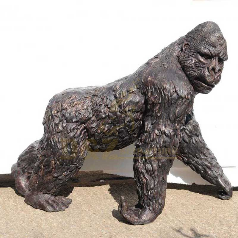 Outdoor Decoration Bronze Gorilla Sculpture