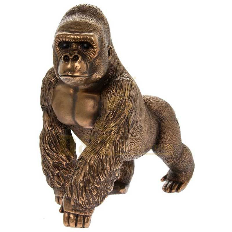 Outdoor decor animal casting bronze sculpture monkey statue