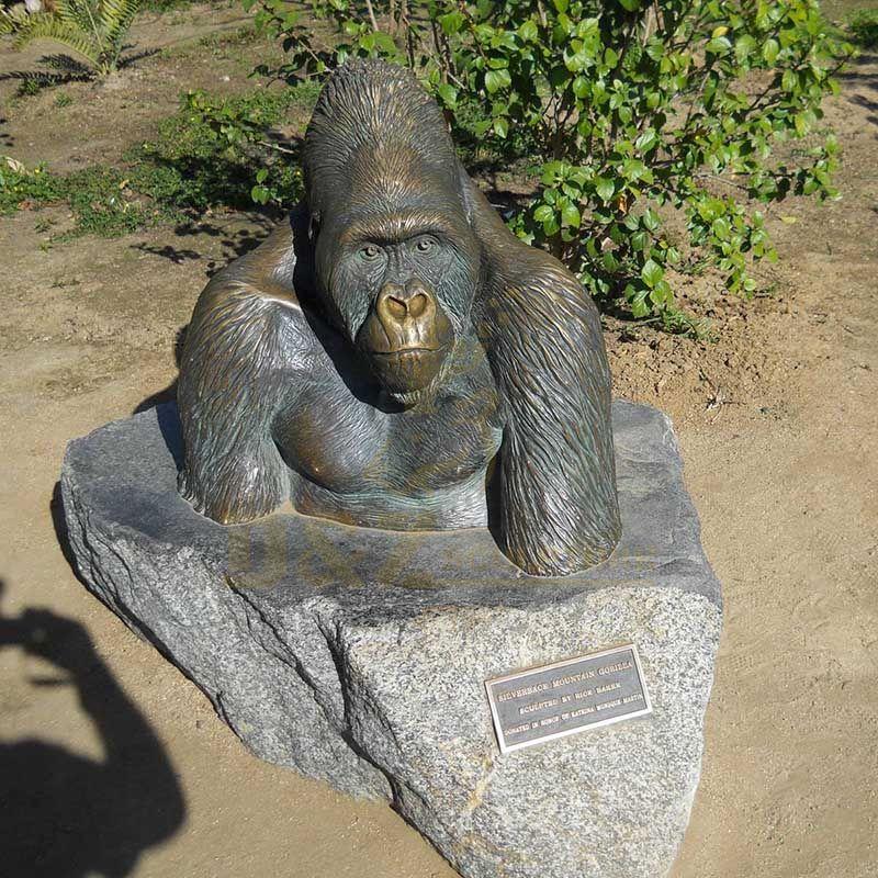 Hot Sale Decorative Bronze Animal Gorilla Head Statue