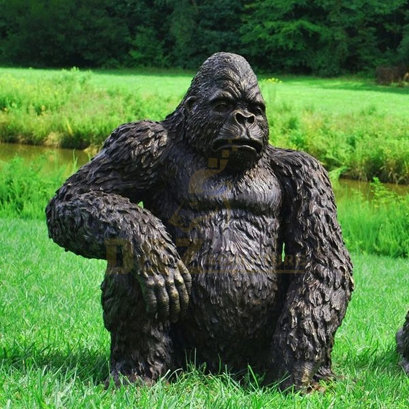 Factory Hot Sale Outdoor Garden Large Bronze Gorilla Statue